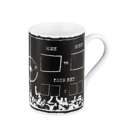 Pari sportif, mug en porcelaine avec craie, 37,3 cl