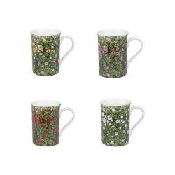 Roses, mug en porcelaine Könitz décorée, 4 coloris disponibles