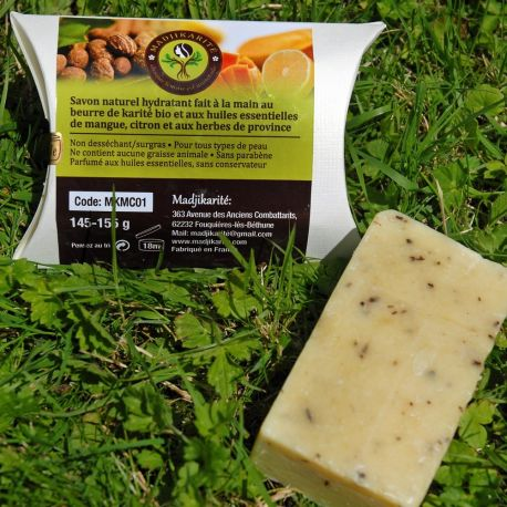Savon Mangue Citron herbes de Provence Karité bio