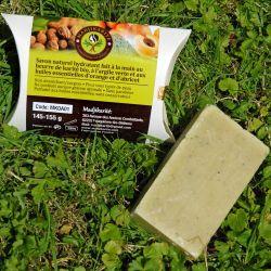 Savon Karité bio huile essentielle abricot et orange Madjikarité