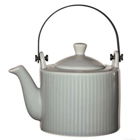 Linea Selection Théière en porcelaine grise avec filtre 75cl