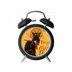 Le Chat noir - Réveil double cloche - Parastone