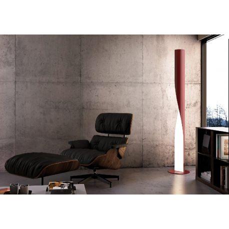 Evita Kundalini Lampe de sol grise design AquiliAlberd