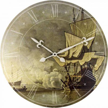 Ship the shot Nextime Horloge murale en bois 50 cm
