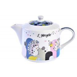 Hérigolo - Théière en porcelaine avec filtre inox - Foxtrot