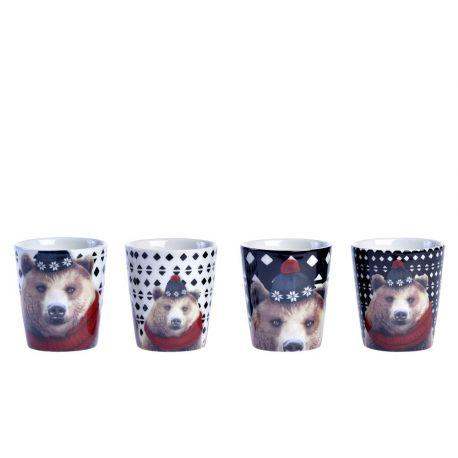 L ours Robeo de Laissez Lucie Faire, Coffret 4 gobelets à café
