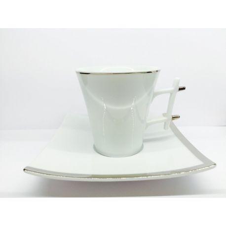 Oxygène Platinum Médard de Noblat Tasse à café porcelaine