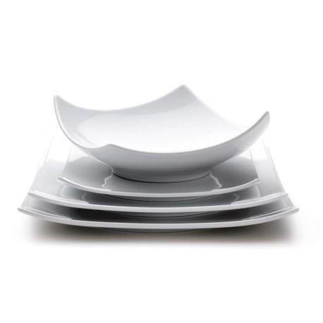 Oxygène Blanc Set 6 assiettes porcelaine
