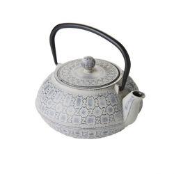 Théière chinoise en fonte gris clair - Point Virgule