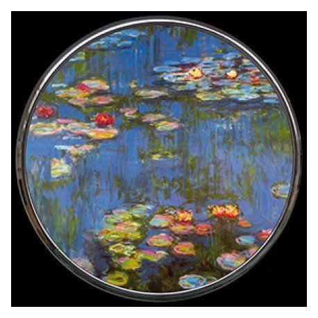 """Miroir de poche refermable """"Bassin aux Nymphéas"""" de Monet"""