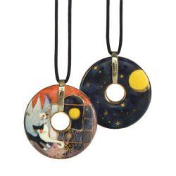 Pendentif reproduction d art en porcelaine Rosina Amici della Luna