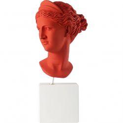 Tête d Artemis Statuette rouge 38,5x17,5x14,5cm - Sophia