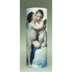 L Amour & Psyché de Bouguereau - Vase céramique 20cm - Parastone