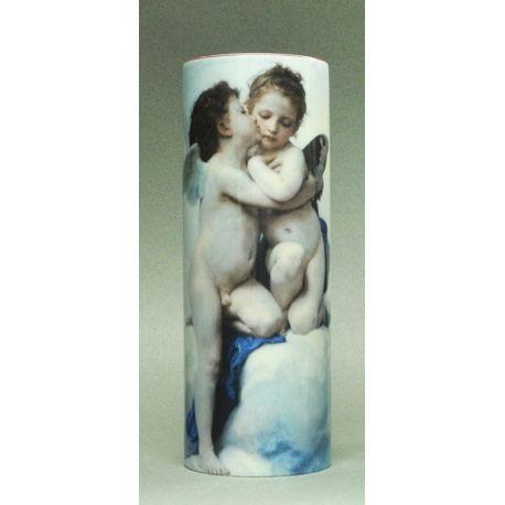 L Amour & Psyché de Bouguereau - Vase céramique 20cm