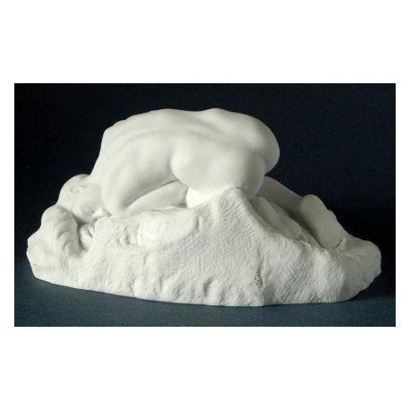 La Danaïde de Rodin - Statue 8 cm blanche en résine - Parastone
