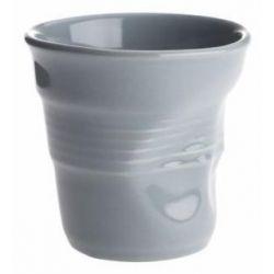 Gobelet Froissé Gris Revol - Tasse espresso 8 cl Porcelaine