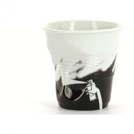 Gobelet Froissé Revol Monochrome - Tasse 8 cl rouge noir ou bleu