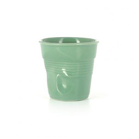 Gobelet Froissé Sauge Revol - Tasse espresso 8 cl Porcelaine