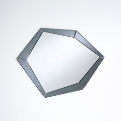 Polygon grey Miroir contemporain Deknudt Mirrors 90x71 cm
