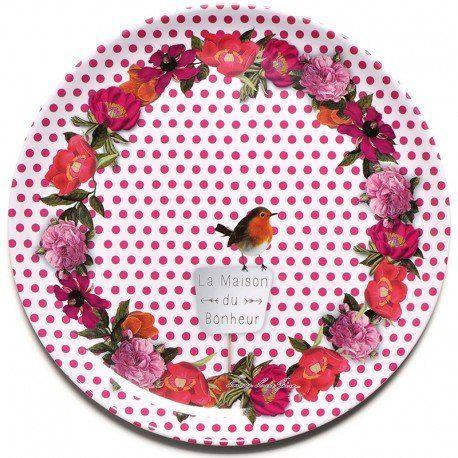 Maison du bonheur - Plat à gâteau en mélamine 36 cm - Foxtrot