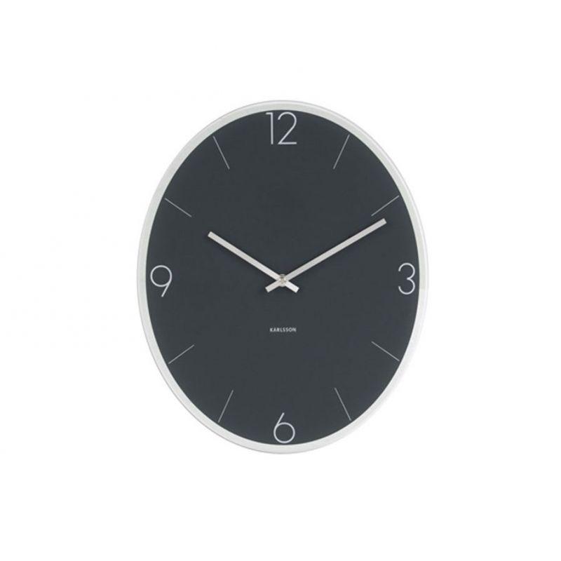 Elliptical karlsson horloge murale ovale en verre 39x32cm for Horloge murale verre