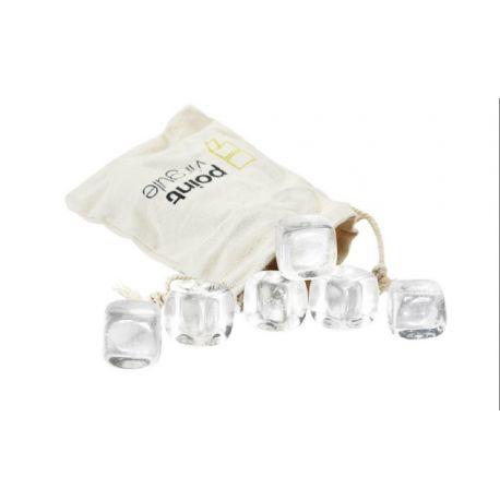 Crystal Stone 6 glaçons en cristal - Point Virgule
