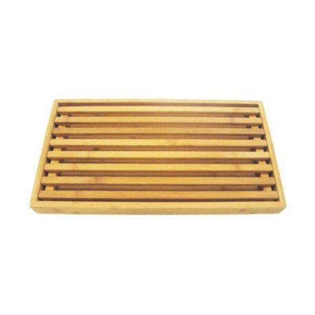 Planche à pain en bambou avec grille pour les miettes 42,5x23 cm