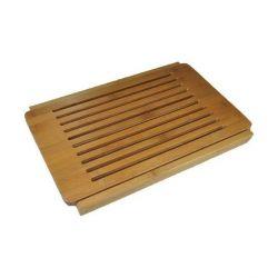 Planche à pain en bambou design avec grille amovible 40x27 cm