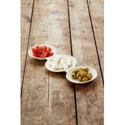 Service à apéritifs ou à tapas triple en fibres de bambou