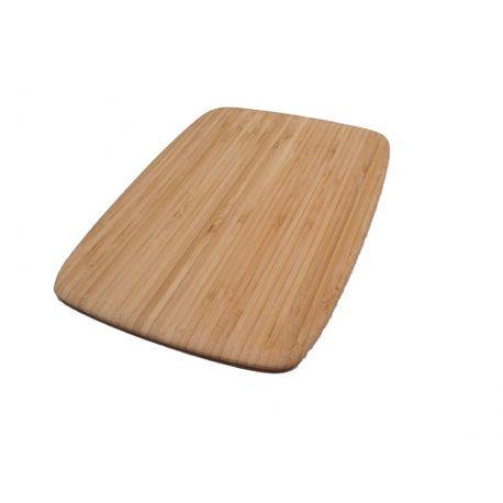 Planche à découper en bambou fine et maniable, 28x20 cm