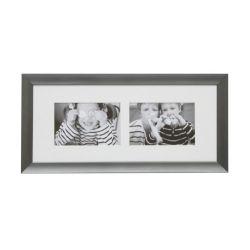 Cadre en aluminium Design 2 photos 15 x 10 cm - Deknudt Frames
