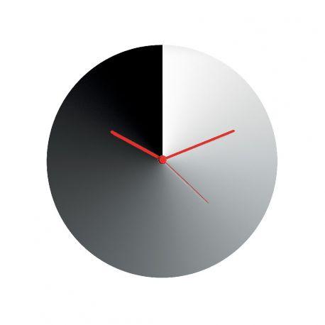 Arris Alessi Horloge murale en inox 18/10 par Adam Cornish
