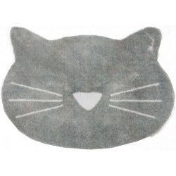Tapis Loulou Mad about Mats, motif chat, moelleux 67x110 cm