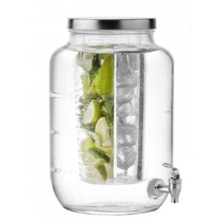 succo leonardo fontaine boisson en verre avec robinet 7 litres. Black Bedroom Furniture Sets. Home Design Ideas