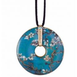 Pendentif reproduction d art en porcelaine Van Gogh Amandier