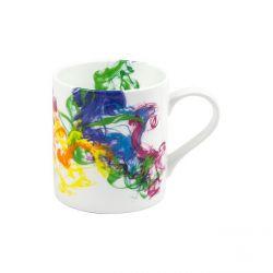 Smoke, mug en porcelaine Könitz décorée, 38,5 cl