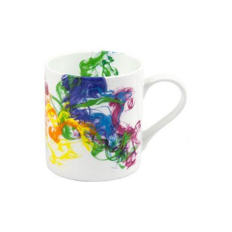Smoke, mug en porcelaine décorée, 38,5 cl