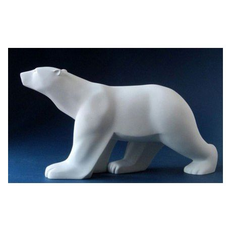 Ours Blanc de François Pompon - Statue 18 cm, résine
