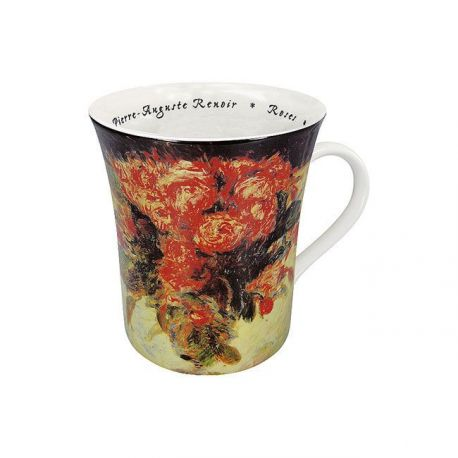 Roses Renoir- Mug évasé porcelaine avec anse