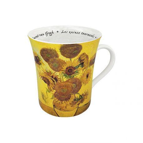 Les Tournesols Van Gogh - Mug évasé porcelaine avec anse - Konitz