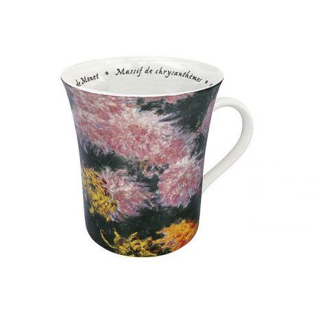 Massif de chrysanthèmes Monet - Mug évasé porcelaine avec anse - Konitz