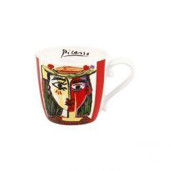 Femme au chapeau de Picasso, mug tasse en porcelaine Könitz