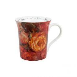 Roses II Renoir - Mug évasé porcelaine avec anse - Konitz