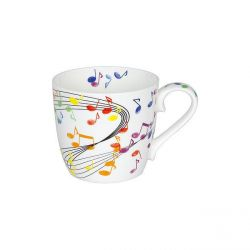 Flying notes, mug tasse en porcelaine Könitz