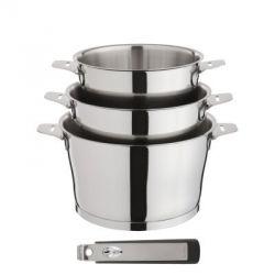 Asana par Cuisinox - Série de casseroles inox manche amovible