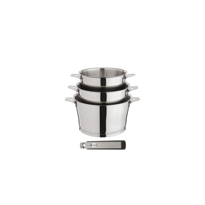 asana par cuisinox s rie de casseroles inox manche amovible. Black Bedroom Furniture Sets. Home Design Ideas