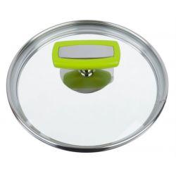 Malice par Cuisinox - Couvercle en verre, cerclage inox 18/10