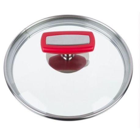 Malice Couvercle en verre bouchon rouge