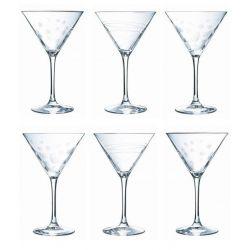 Sublym Coffret 6 verres à cocktails taillés Chef & Sommelier
