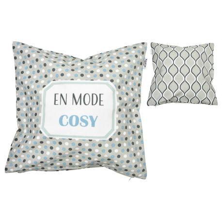 Coussin En mode cosy, en coton 45 x 45 cm